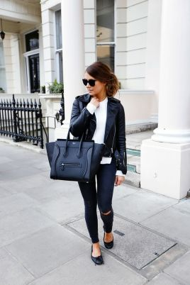 Stylish leather tote bags for work 37