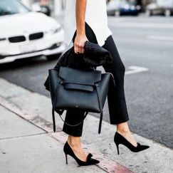 Stylish leather tote bags for work 54