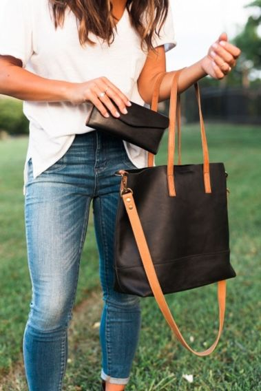 Stylish leather tote bags for work 8