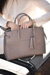 Stylish leather tote bags for work 86