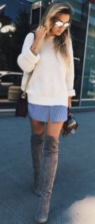 Trendy over the knee boots for winter and fall outfits 11