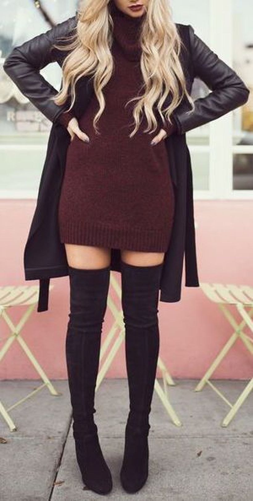 Trendy over the knee boots for winter and fall outfits 14