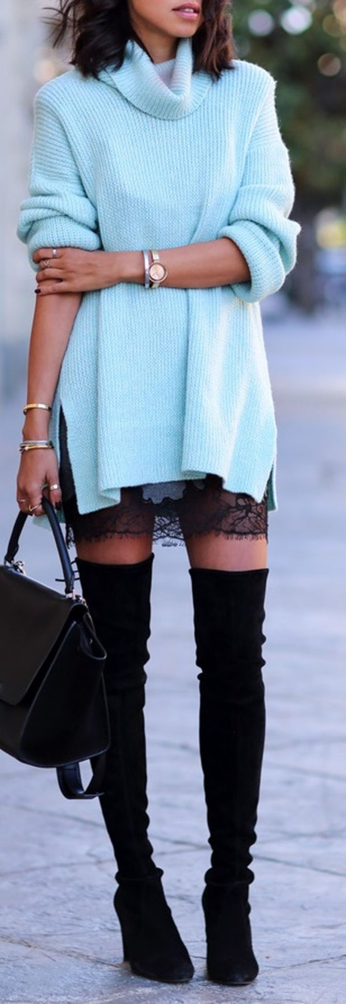 Trendy over the knee boots for winter and fall outfits 18