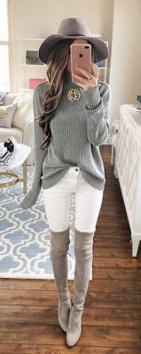 Trendy over the knee boots for winter and fall outfits 27