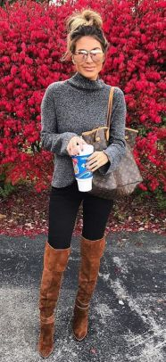 Trendy over the knee boots for winter and fall outfits 42