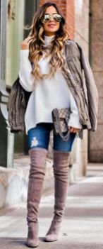 Trendy over the knee boots for winter and fall outfits 45