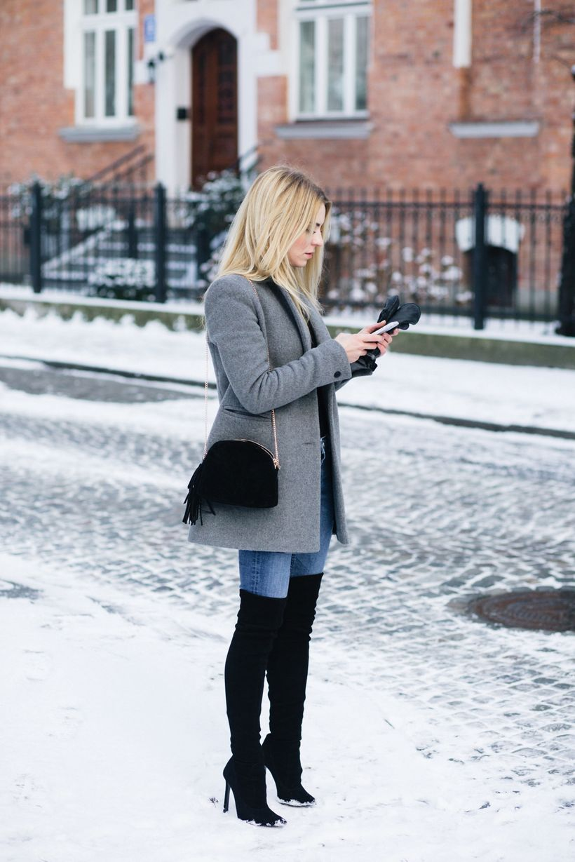 Trendy over the knee boots for winter and fall outfits 46