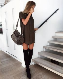 Trendy over the knee boots for winter and fall outfits 57
