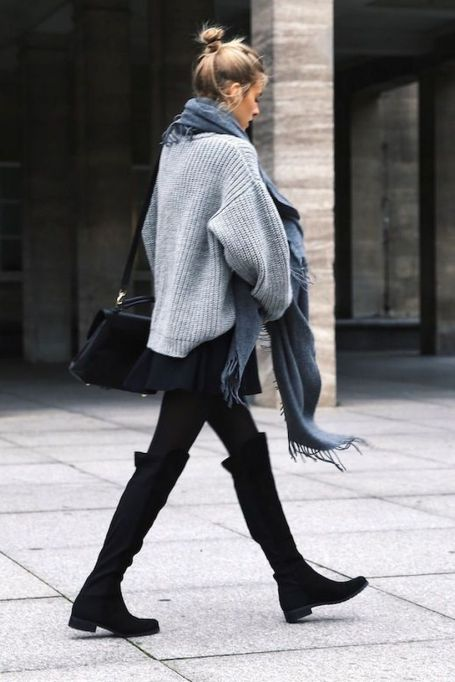 Trendy over the knee boots for winter and fall outfits 65