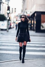Trendy over the knee boots for winter and fall outfits 66