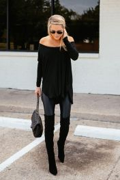Trendy over the knee boots for winter and fall outfits 68