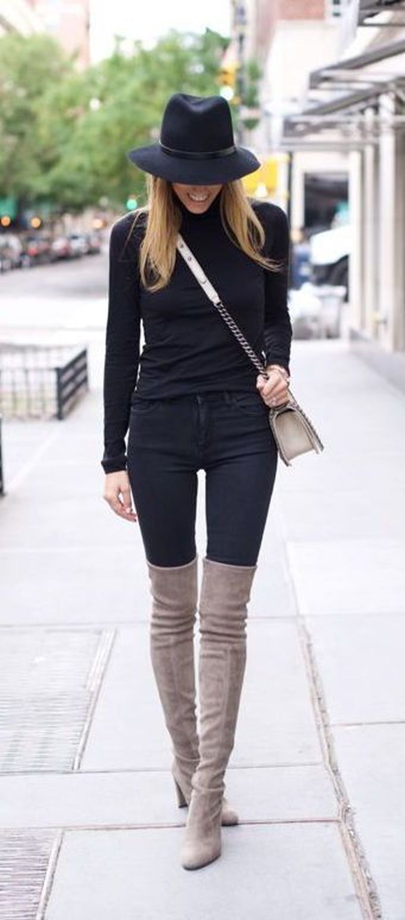 Trendy over the knee boots for winter and fall outfits 73