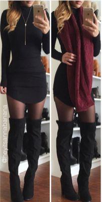 Trendy over the knee boots for winter and fall outfits 74