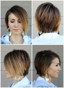 Cool short pixie ombre hairstyle ideas 15