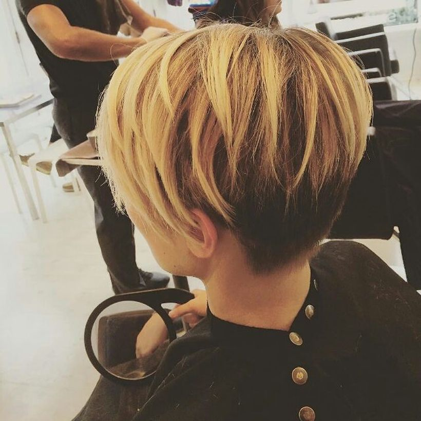 Cool short pixie ombre hairstyle ideas 26