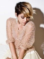Cool short pixie ombre hairstyle ideas 36