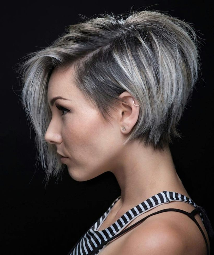 Cool short pixie ombre hairstyle ideas 4