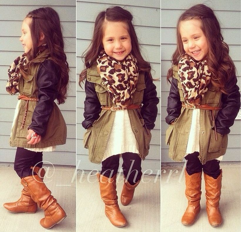 Cute fall outfits ideas for toddler girls 11