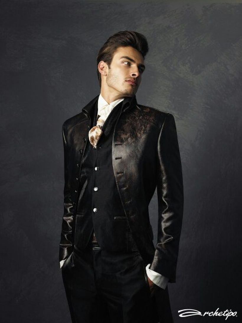 Elegant men's formal wear with tuxedo and suits 36