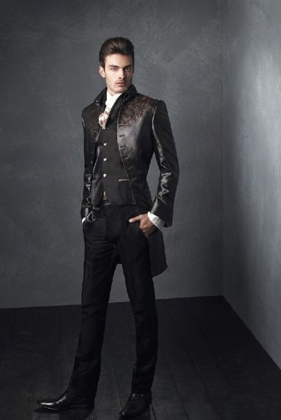 Elegant men's formal wear with tuxedo and suits 90
