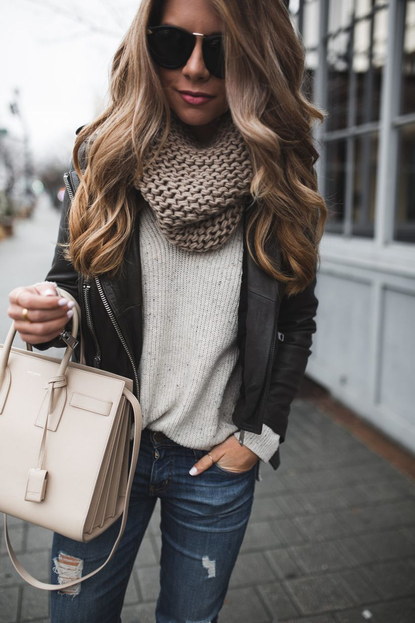 Fashionable outfit style for winter 2017 34