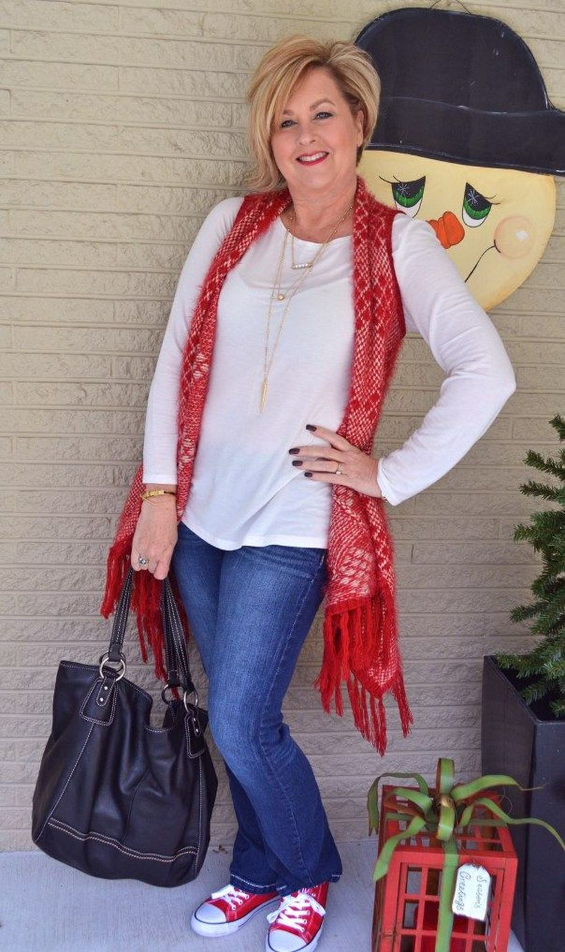 Fashionable over 50 fall outfits ideas 91