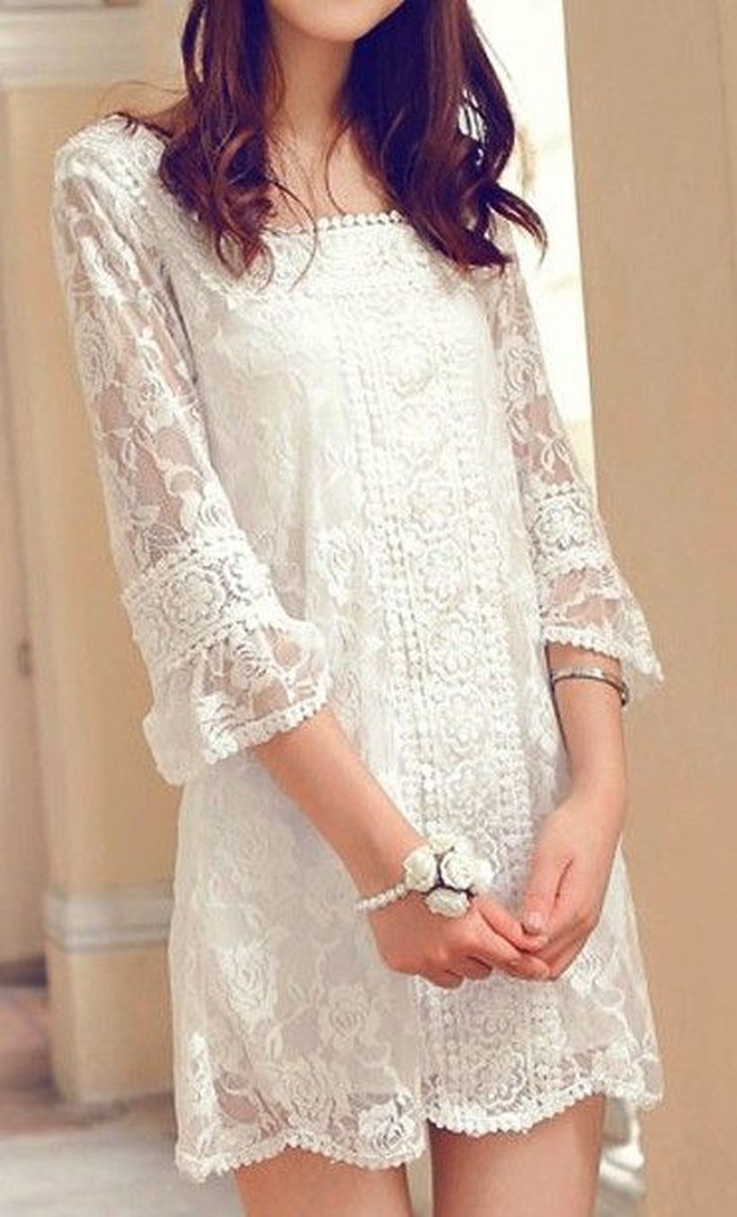 Most cute short white dresses outfits design ideas 13