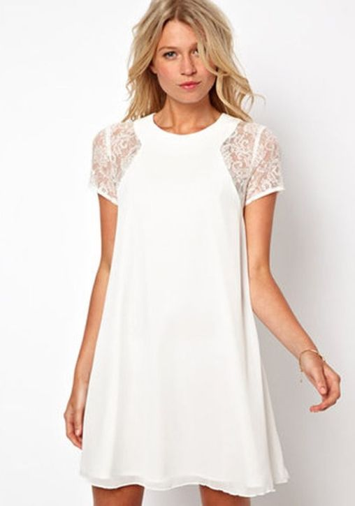 Most cute short white dresses outfits design ideas 2