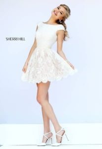 Most cute short white dresses outfits design ideas 31