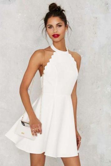 Most cute short white dresses outfits design ideas 36