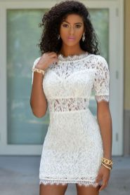 Most cute short white dresses outfits design ideas 46