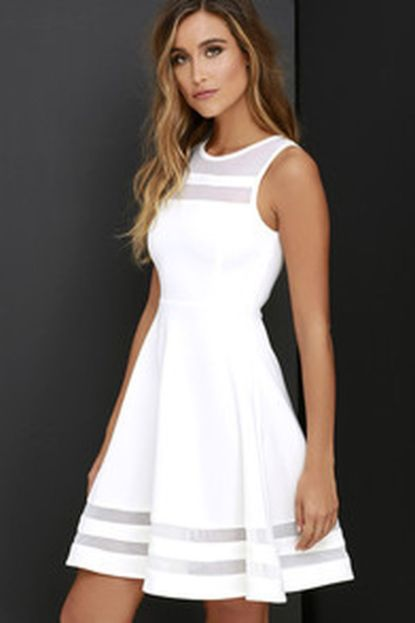 Most cute short white dresses outfits design ideas 49