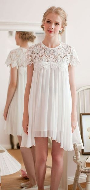 Most cute short white dresses outfits design ideas 50