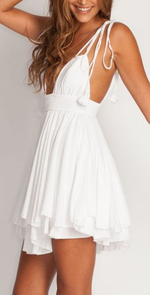 Most cute short white dresses outfits design ideas 55