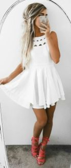 Most cute short white dresses outfits design ideas 6