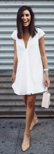 Most cute short white dresses outfits design ideas 62