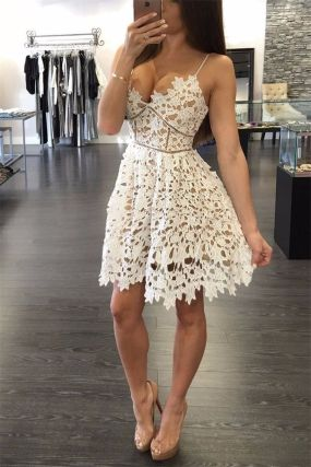 Most cute short white dresses outfits design ideas 75