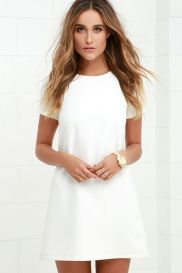 Most cute short white dresses outfits design ideas 77