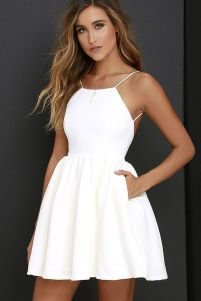 Most cute short white dresses outfits design ideas 84
