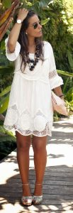 Most cute short white dresses outfits design ideas 85