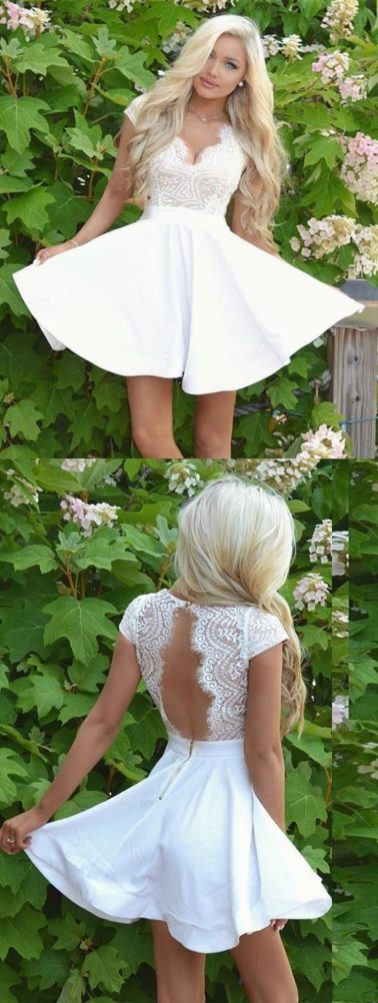 Most cute short white dresses outfits design ideas 88