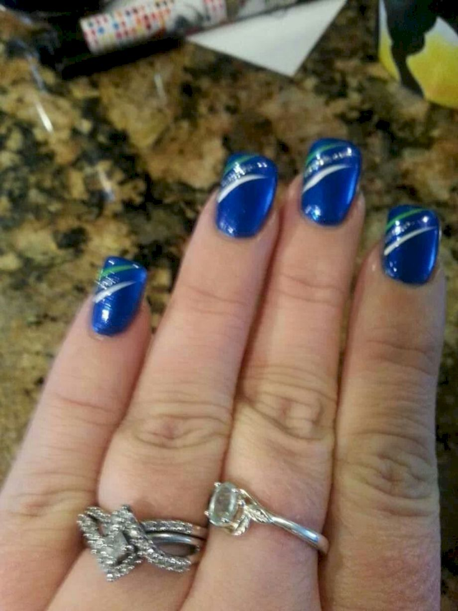 Seahawks nails design 07