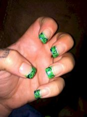 Seahawks nails design 08