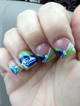 Seahawks nails design 10
