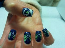 Seahawks nails design 14