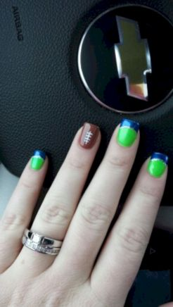 Seahawks nails design 16