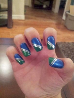 Seahawks nails design 19
