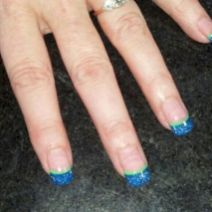 Seahawks nails design 24