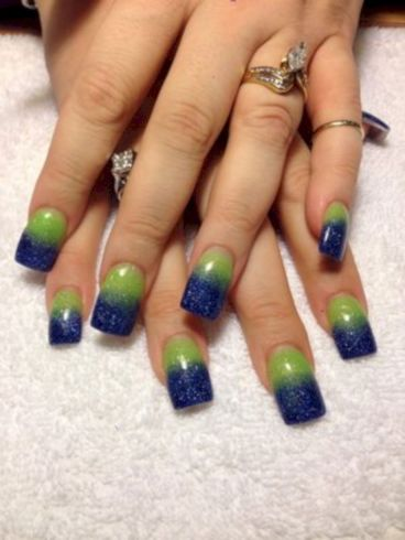 Seahawks nails design 54