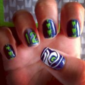 Seahawks nails design 60